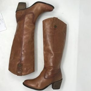 Vince Camuto Knee High Brown Heeled Boots 6